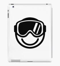 Ski snowboard smiley iPad Case/Skin