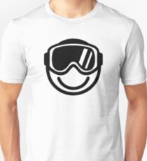 Ski snowboard smiley Unisex T-Shirt
