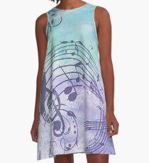 Music Notes Flutter  A-Line Dress
