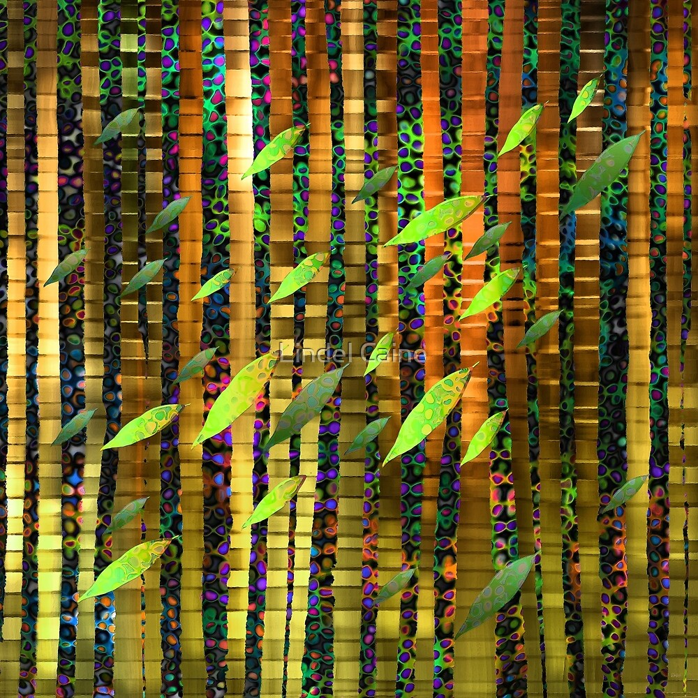 Green Jungle Breeze  by Lindel Caine