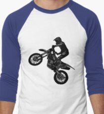 Dirt-Bike-Rennfahrer Baseballshirt für Männer