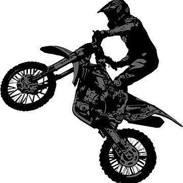 Dirt-bike Racer by NaturePrints