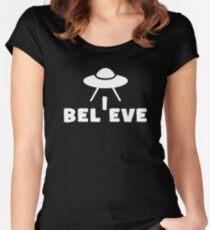 Believe UFO Sci Fi  Women's Fitted Scoop T-Shirt