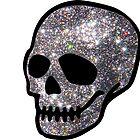 Glitter Silberner Schädel von aahhbianca