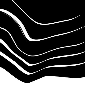 Organic No. 10 Black & White #minimalistic #design #artprints #redbubble by MenegaSabidussi