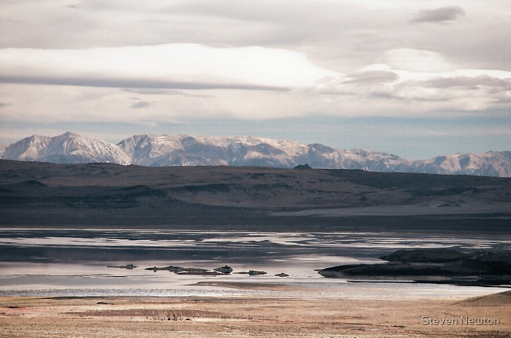 Mono Lake and Cowtrack Mountains, Sunset by Steven Newton