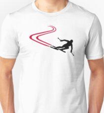 Downhill ski tracks T-Shirt