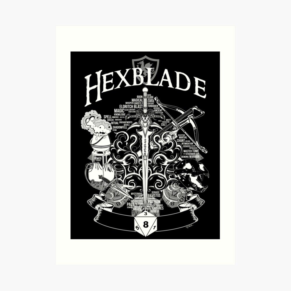 RPG Class Series: Hexblade - White Version | Art Print
