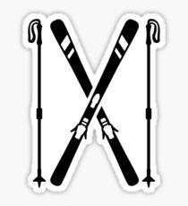 Crossed ski Sticker