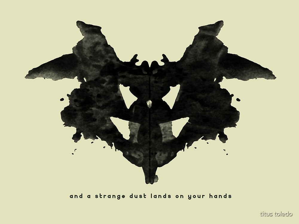 and a strange dust lands on your hands by titus toledo