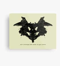 and a strange dust lands on your hands Metal Print