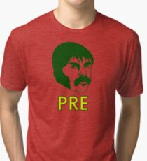 Prefontaine Cross Country and Track Running  Tri-blend T-Shirt