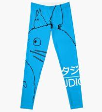 Totoro Studio Ghibli logo Leggings