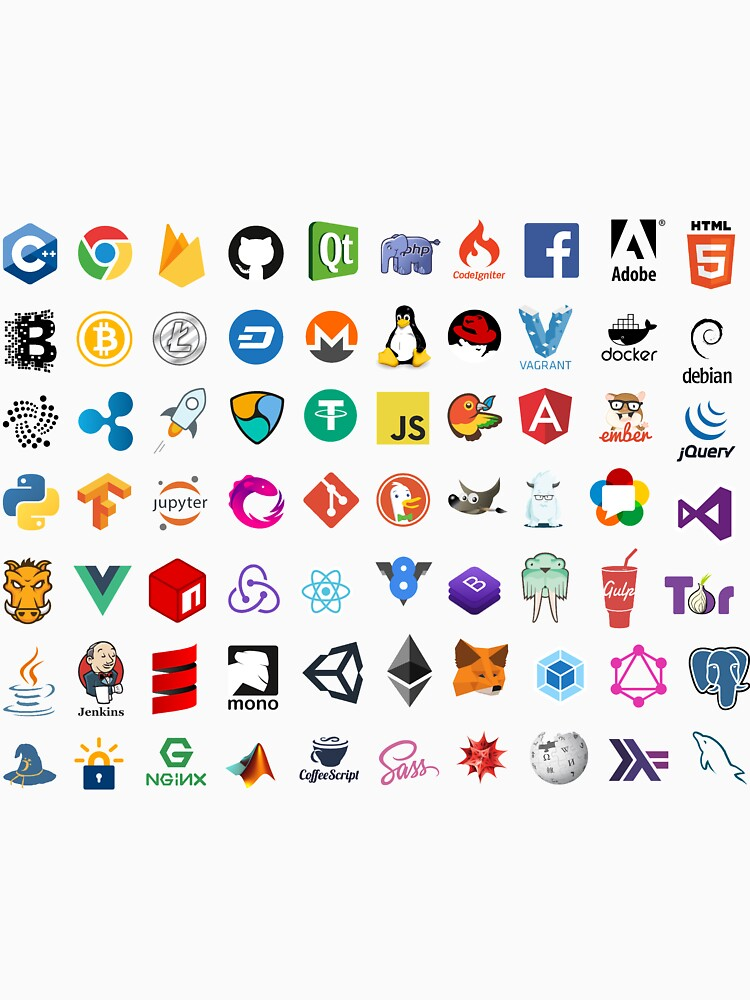 Developer icons, open source project logos, web companies by radixvinni