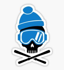 Skiing skull Sticker