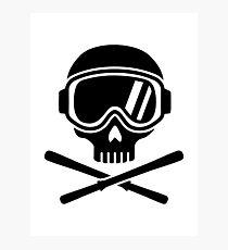 Skull crossed ski Photographic Print
