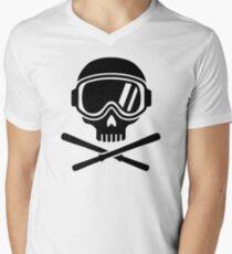 Skull crossed ski Men's V-Neck T-Shirt