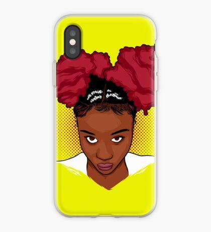 CurlyGirl verworrenes natürliches Haar Afro-Hauch-T-Shirt / T-Stücke T-Shirt iPhone-Hülle & Cover