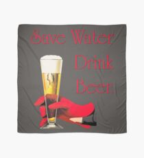 Save water drink beer home bar sign Scarf