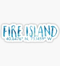 Fire island Sticker
