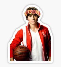 Zac Efron Flower Crown Sticker