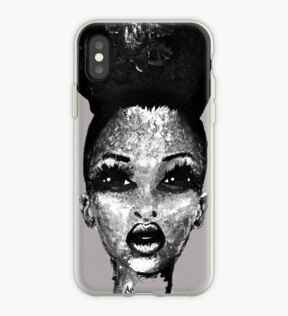 Positiv ich Afro-Hauch-Schönheit Schwarzweiss iPhone-Hülle & Cover