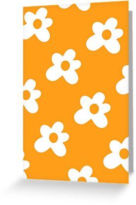 Golf Le Fleur Logo Pattern Orange Greeting Cards By Tylerpetitt