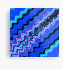 Blue Tranquil Waves Metal Print