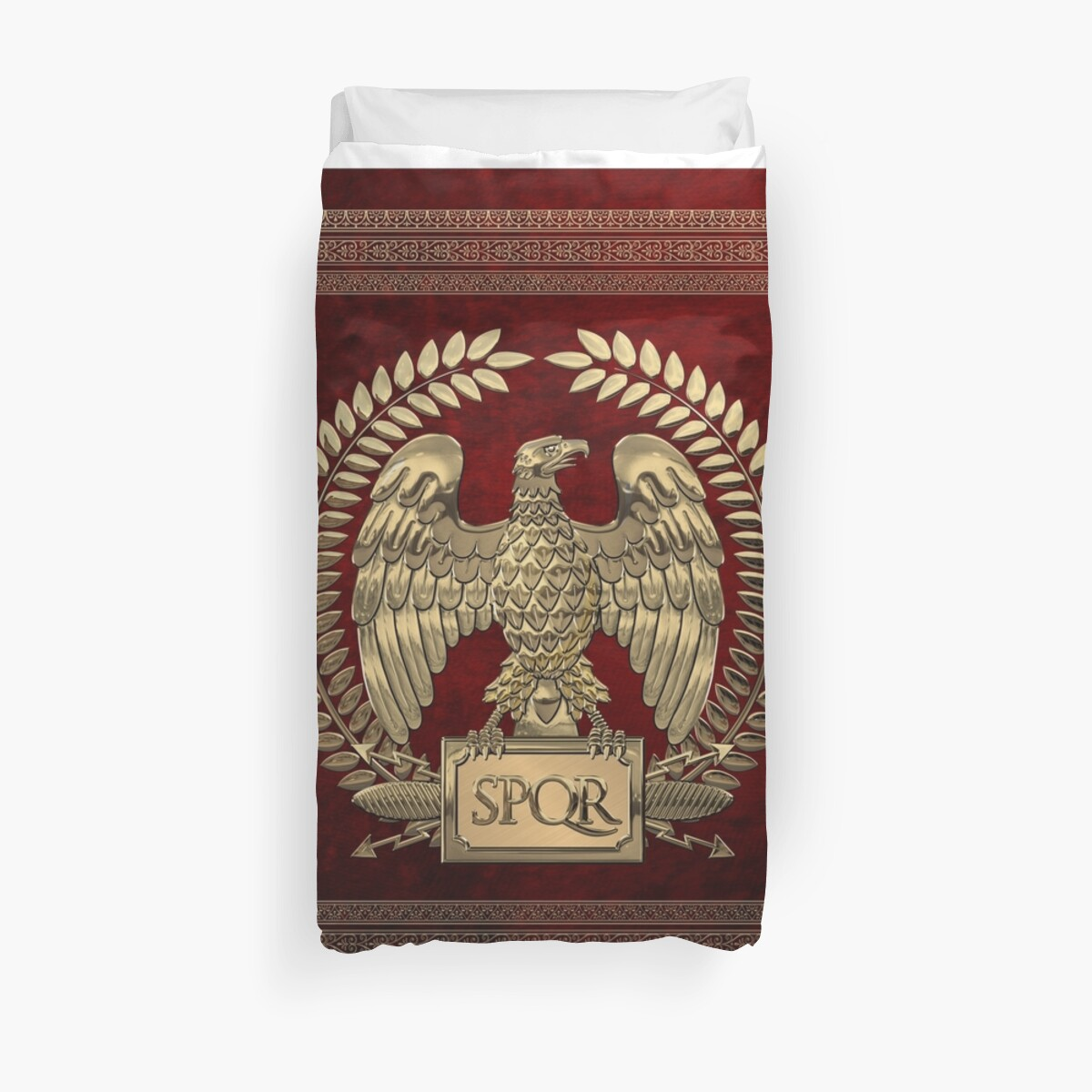 Roman Empire - Gold Imperial Eagle over Red Velvet by Serge Averbukh