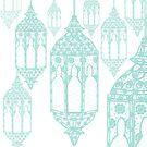 Mint Green Lantern Print by aidadaism