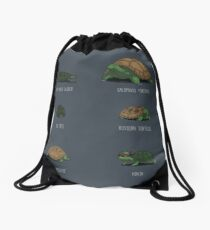 Know Your Turtles Drawstring Bag