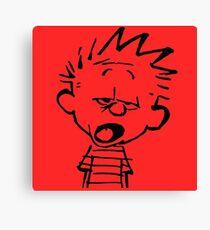 Calvin Want's To Sleep Canvas Print