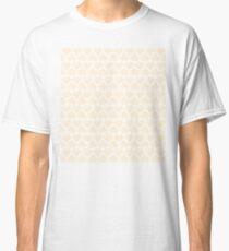 Seamless Pattern of White Pixel Hearts (7x6) Classic T-Shirt