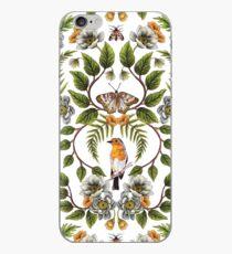 Spring Reflection - Floral/Botanical Pattern w/ Birds, Moths, Dragonflies & Flowers iPhone Case