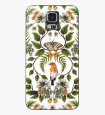 Spring Reflection - Floral/Botanical Pattern w/ Birds, Moths, Dragonflies & Flowers Case/Skin for Samsung Galaxy