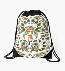 Frühlings-Reflexion - Blumen- / botanisches Muster mit Vögeln, Motten, Libellen u. Blumen Turnbeutel