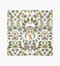 Spring Reflection - Floral/Botanical Pattern w/ Birds, Moths, Dragonflies & Flowers Scarf