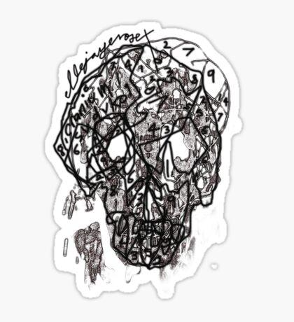 suduko cranium Sticker