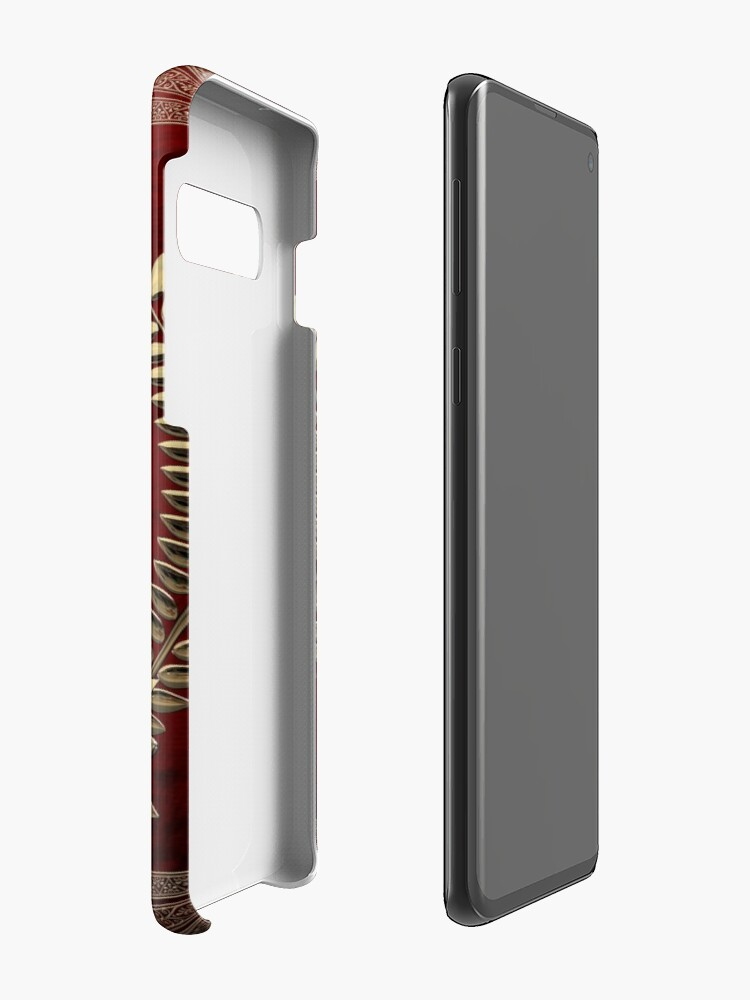 Alternate view of Roman Empire - Gold Imperial Eagle over Red Velvet Case & Skin for Samsung Galaxy