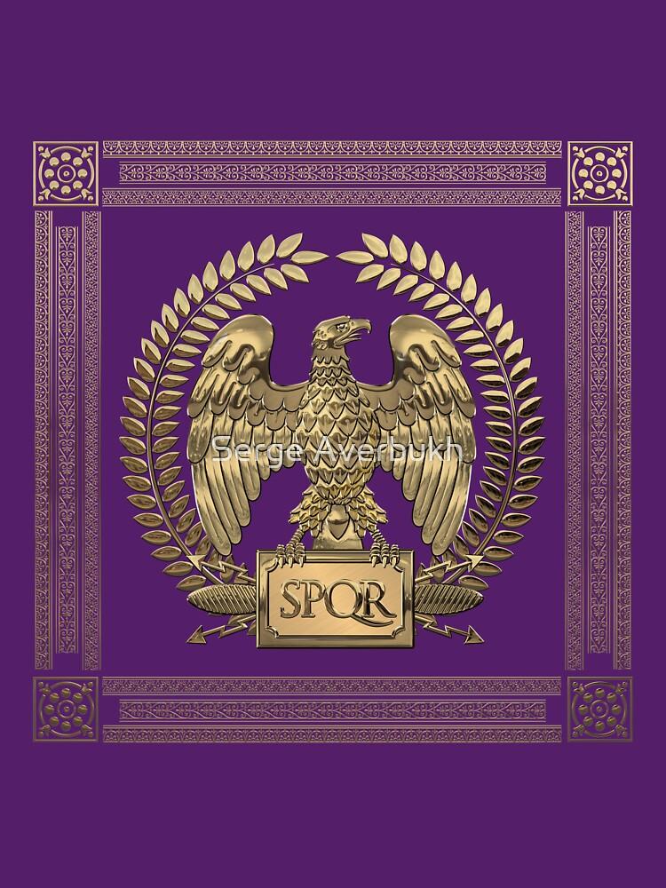 Roman Empire - Gold Imperial Eagle over Red Velvet by Captain7