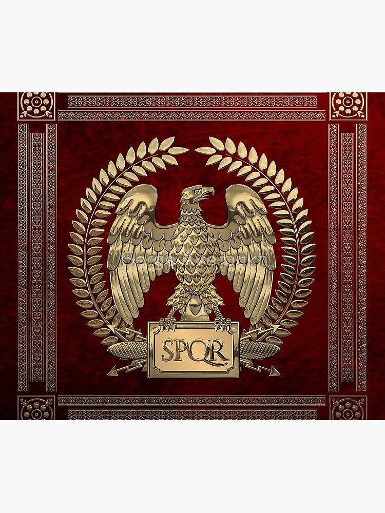 Roman Empire - Gold Imperial Eagle over Red Velvet by Captain7