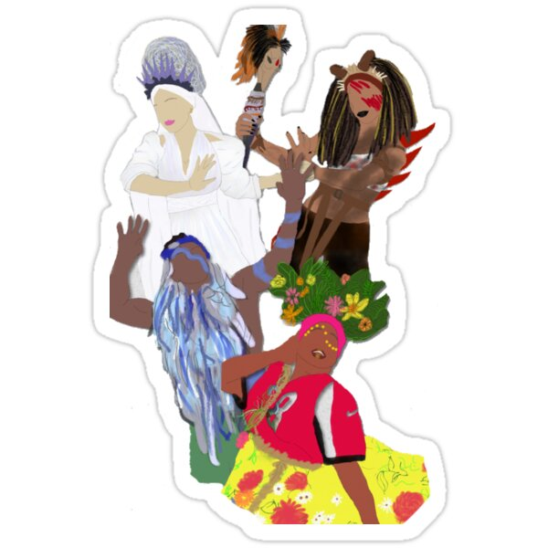 We Dance to the Music of The Gods  Sticker