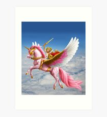 Lámina artística She-Ra y Swiftwind volando en las nubes!