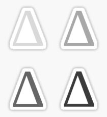 DELTA / 4 PACK / MONOCHROM Sticker