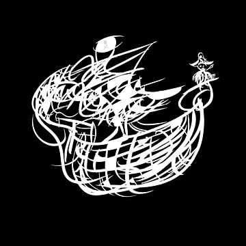 A Pirate's Life - Ink Blot - (Dark Background) by councilgrove