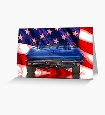 American Corvette Greeting Card