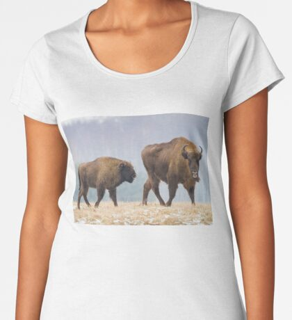 Cow and a calf Women's Premium T-Shirt