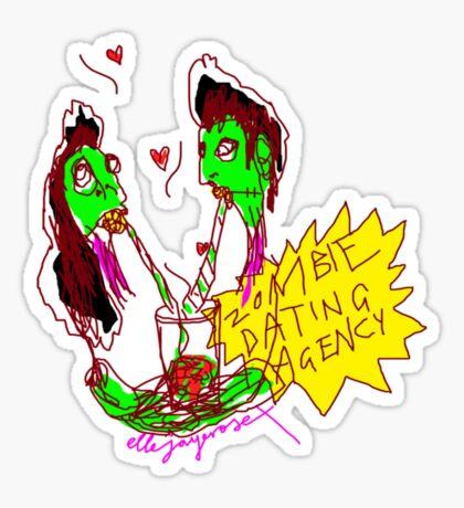 'Zombie Dating Agency' Sticker