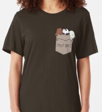 We Bare Bears Pouchie Shirt Slim Fit T-Shirt