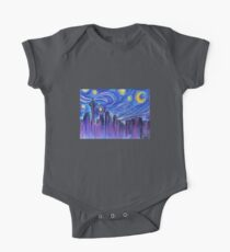 Starry Night Over Seattle One Piece - Short Sleeve